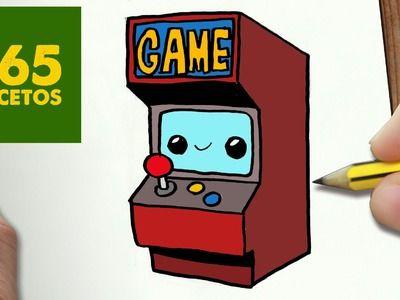 COMO DIBUJAR MAQUINA ARCADE KAWAII PASO A PASO - Dibujos kawaii faciles - How to draw Arcade