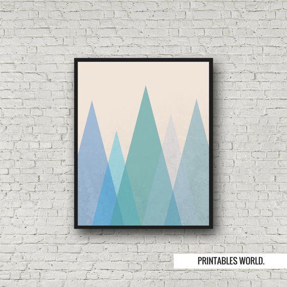 Blue Mountains landscape Printable Poster by PrintablesWorld
