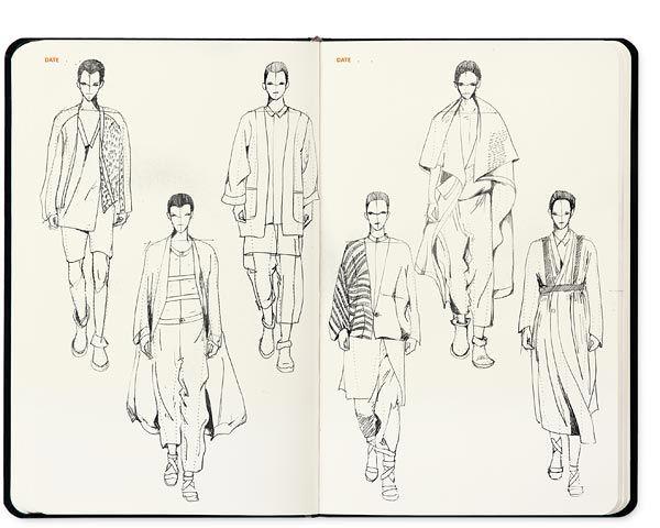 Fashion illustration men template