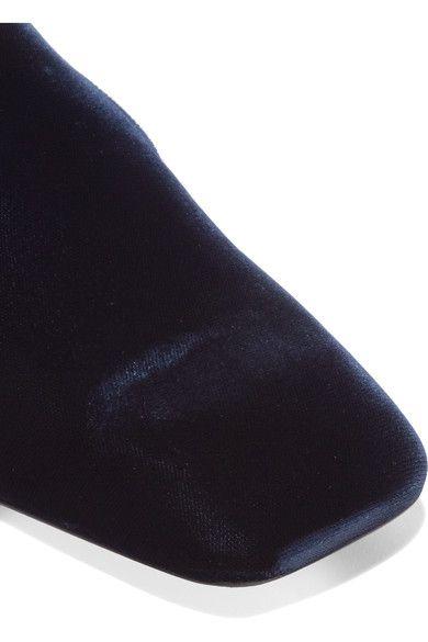 Jil Sander - Velvet Slippers - Navy - IT35.5