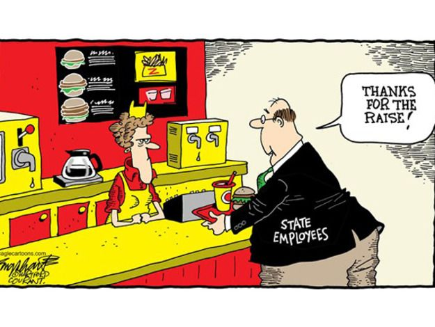 Editorial cartoon state employee raise Political and Editorial Cartoons - The Week