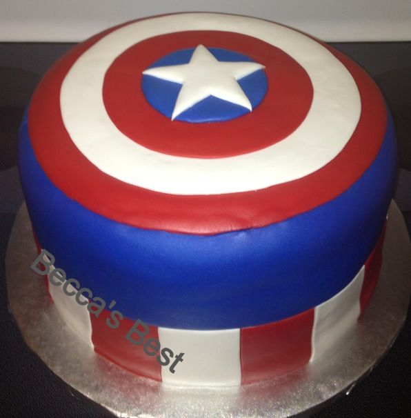 Captain America cake - fondant Cakes I ve done ...