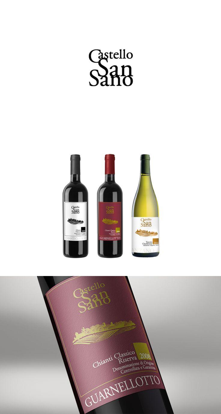 Castel San Sano, Label Design ─ Giulio Patrizi Design Agency ©   #wine #label #design #bottle
