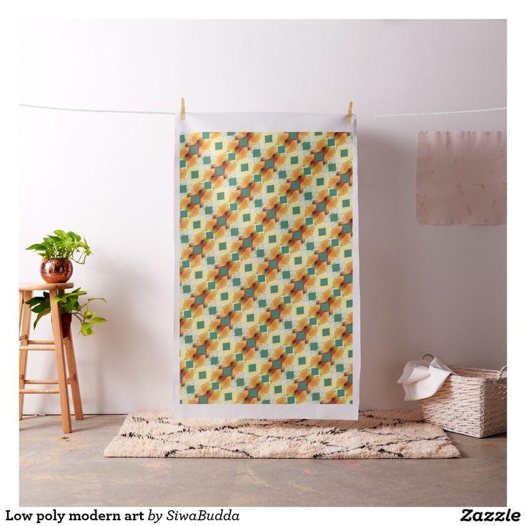 Low poly modern art fabric