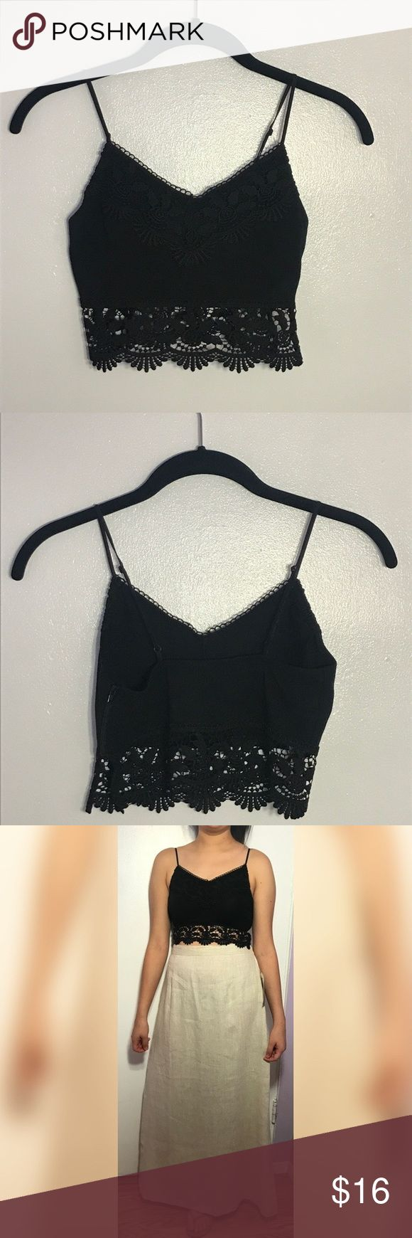 Top Sop Crochet Rib Bralet.  ..... Crochet Rib Bralet from Top Shop ...Hello PoshMark community, I'm so happy to share all the styles that I love Personally and that I would like to share with whomever would love my styles of clothing !!! Thank you all for the Love !! Topshop Tops
