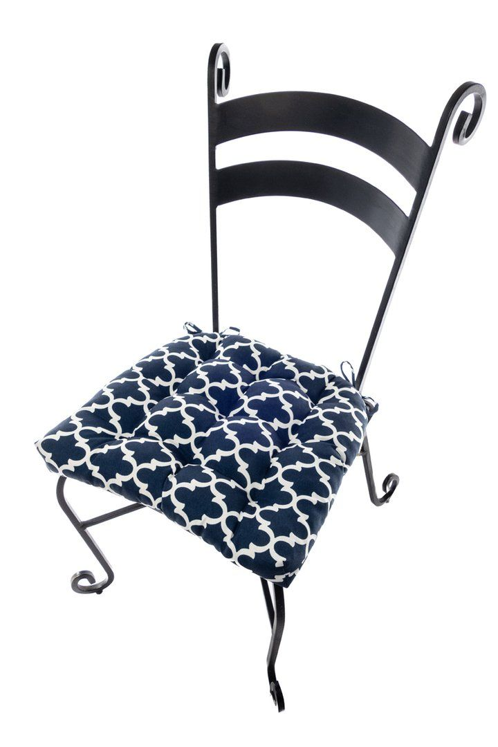 Fulton Ogee Navy Blue Indoor Outdoor Dining Chair Pads Patio