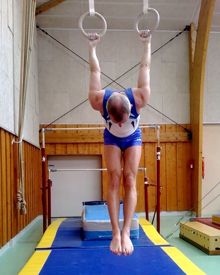 Reverse Hang At Rings To Improve Shoulders Mobility Gymnastics