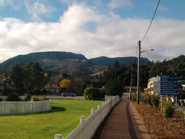 View of Queenstown Tasmania Copper Mine