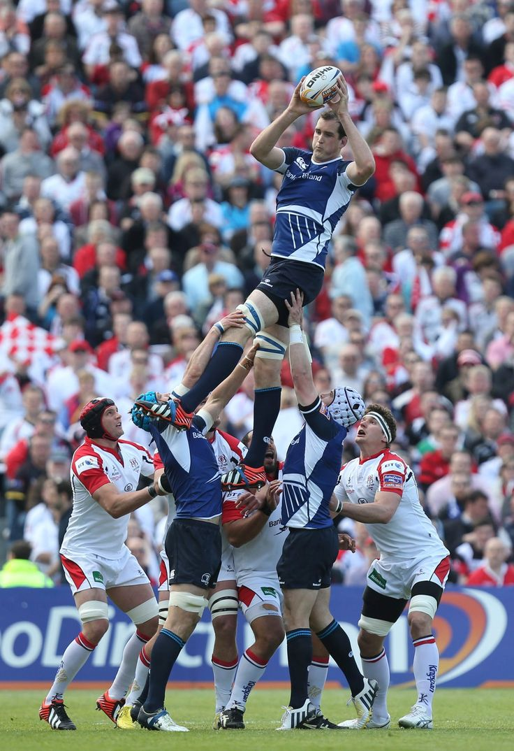 As if it were even possible, Devin Toner goes higher into the air.