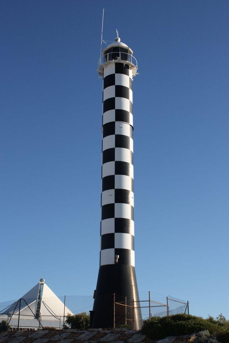 Bunbury Lighthouse, Bunbury, Western Australia.... Checkered lighthouse? Best thing ever.