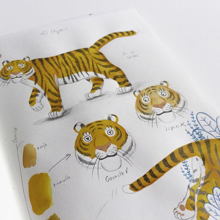 Mar Villar - Bocetos para personaje-Tigre