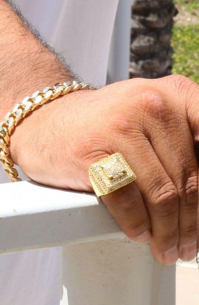 ad1e989154342 1.80 Ct Round Cut Diamond Pinky Ring Men's 14K Yellow Gold Finish ...