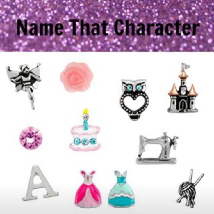 Origami Owl Name the Disney Character- Aurora                                                                                                                                                     More