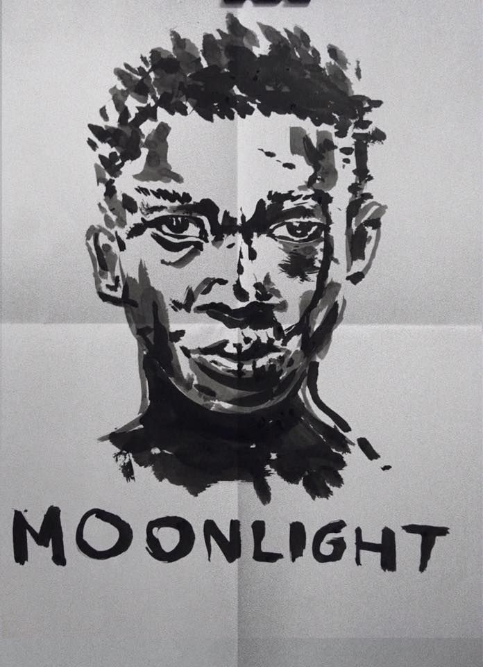 Moonlight (2016) Director: Barry Jenkins Chinese ink Potrait drawing