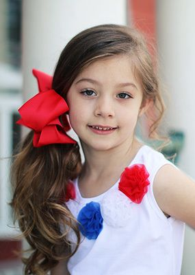 Extra Large Grosgrain Hair Bow with French Clip