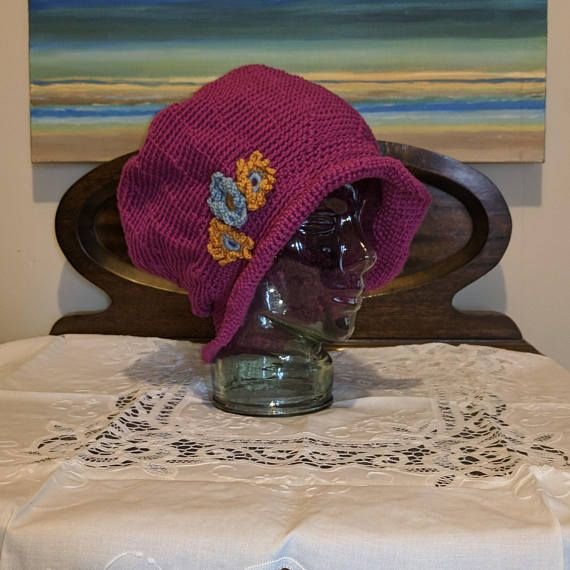 Ladies crochet summer hat/bonnet FREE POST AUSTRALIA