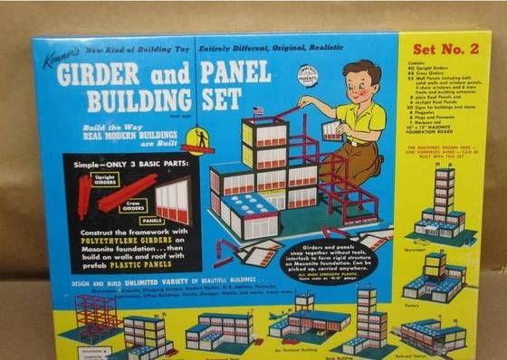 kenner toy buildings nos kenner 39 s girder panel building set 2 used to have one or still. Black Bedroom Furniture Sets. Home Design Ideas