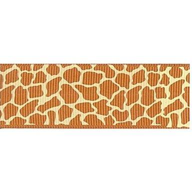 Stampa a nastro pattern di giraffa pascolo africano personalizzato costola 3/8 di pollice ribbon- 25 metri per rotolo (più colori) del 2015 a €5.03