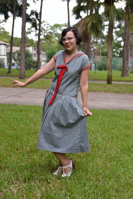 The Triple Berry Trifle Dress   The Girl with the Star-Spangled Heart: The Triple Berry Trifle Dress a 1920s 1 hour nautical dress