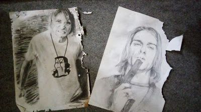 Filani Art: Drawing from the past ( Drawing of Kurt Cobain )