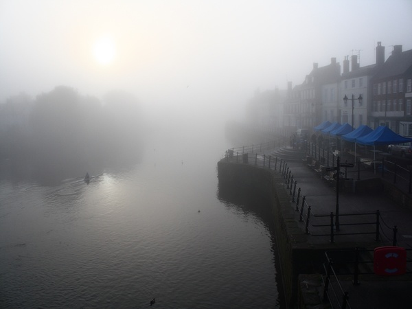 Bewdley, fog on the River Severn. Probably taken in July lol