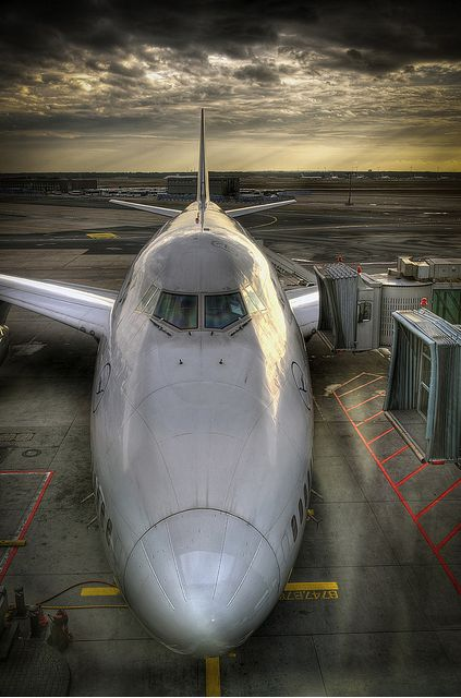 Lufthansa Boeing 747-400 at the gate!