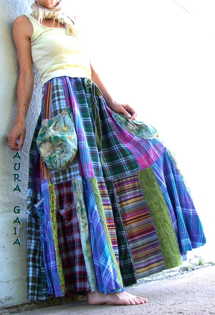 AuraGaia ~ SnuggleUp ~ Flannel Patchwork Skort Skirt PANTS Upcycled OverDyed fit XS-3X Plus; 8 pockets, EIGHT!!! drawstring waist; flannels in stripes, plaids, floral and an adorable print with buses, giraffes & monkeys! WARM, HUGGY, LIVE-INS!!!! yum!