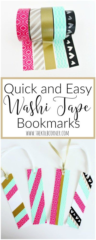 These washi tape bookmarks look SO easy. Definitely going to try this tutorial.