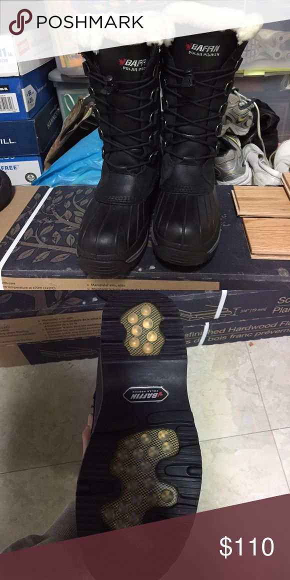 Baffin Winter Boots Black Baffin women's boots. Warm up to -40F. Worn twice Baffin Shoes Winter & Rain Boots