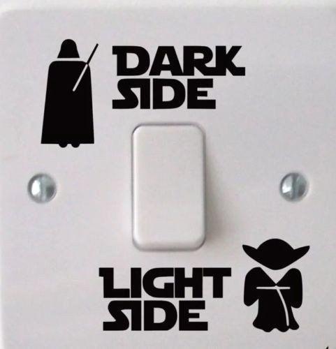 Dark Side Light Side Star Wars Light Switch Decal Wall Sticker Promo Sale