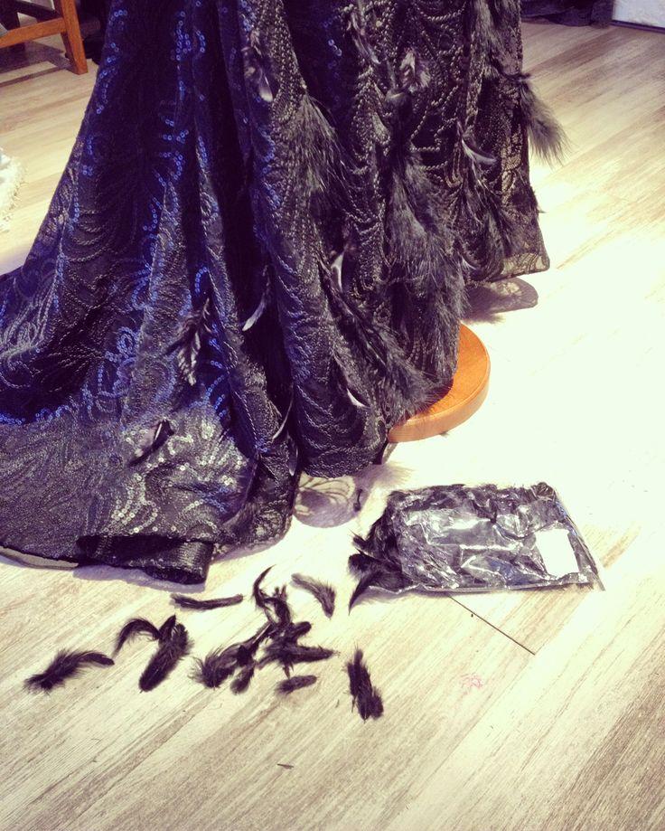 #pene #black #littleblackdress #hautecouture #leathersequin #paietedinpiele #leatherembroidery #fabulousdress #feathers #featherdress #uniquedress #dresscode #luxurious #luxury #luxurydress #handmade #margo #margoconcept #brasov #rochiedeseara #fashion #fashionaddict #dresstoimpress #dressoftheday