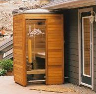 modern outdoor sauna