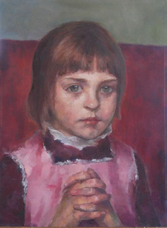 """Buy Portrait study - based on the """"Young girl"""" of Maria Wiik, 1885, Oil painting by Alexander Koltakov on Artfinder. Discover thousands of other original paintings, prints, sculptures and photography from independent artists."""