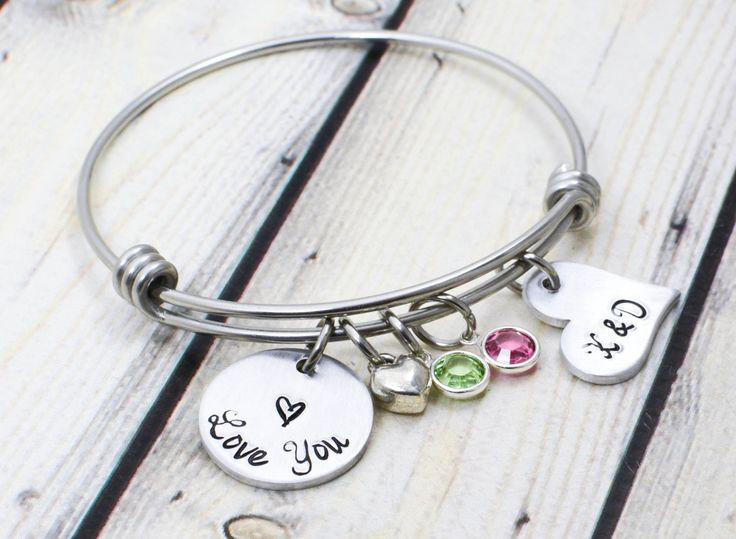 Couples Initials Bracelet - Personalized Love You Bracelet - Custom Gift for Girlfriend - Anniversary Gift for Wife - Couples Bracelet