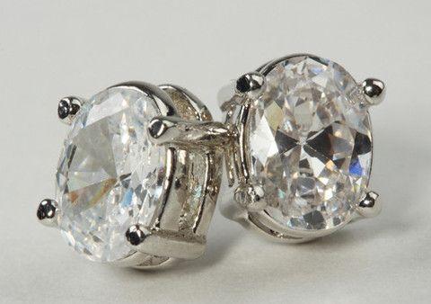 Oval CZ Earring Gold – Jewel Online