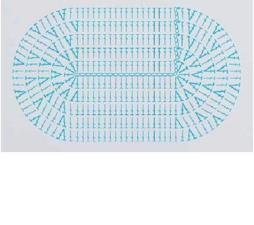 Patrón alfombra ovalada punto alto