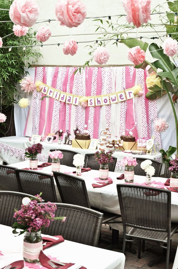 Ideas For a Relaxed Outdoor Bridal Shower