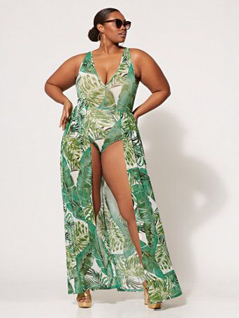 4b9a2423e3 Shop Brianna Bodysuit Maxi Dress. Find your perfect size online at the best  price at Fashion To Figure.