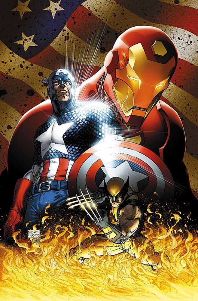 "extraordinary-heroes: ""Civil War Vol.1 Collected (Cover art by Michael Turner) """