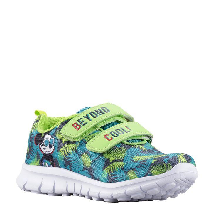 Pantofi sport copii Mickey Mouse verzi cu arici