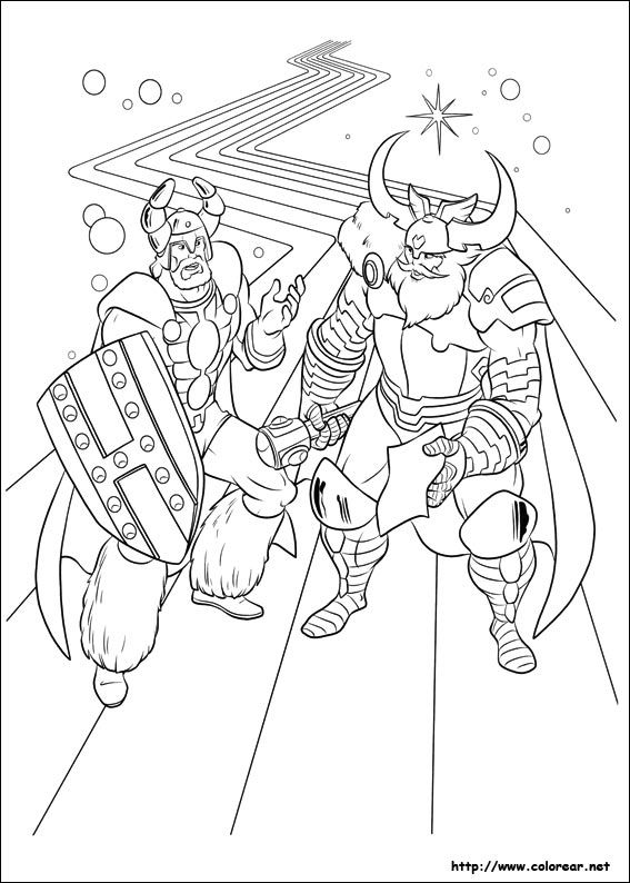 Thor Coloring Pages For Kids 2