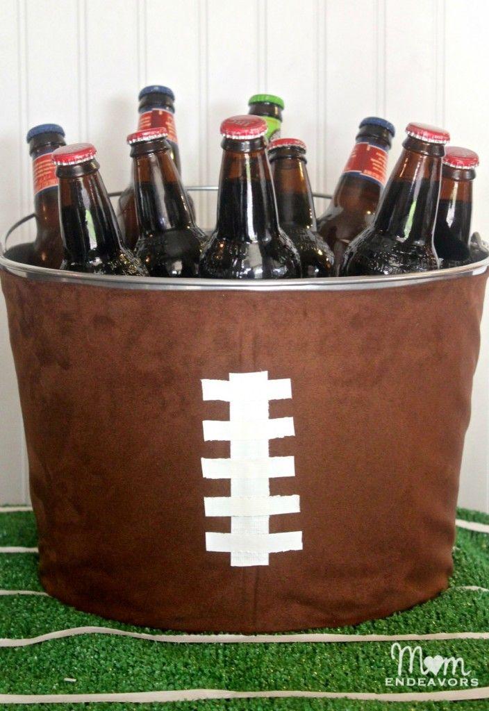 Football Party Decor: DIY Football Drink Tub « Mom Endeavors #UPYOURGAME #SWEEPS