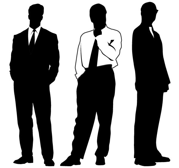 Vector Businessman Silhouettes | Free Vectors | Silhouette ...