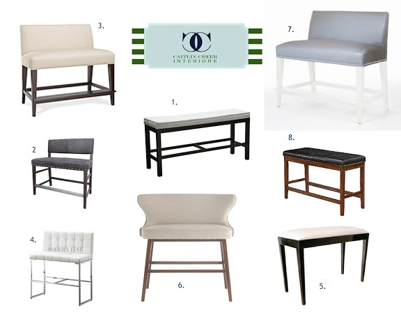 I a RIDICULOUS number of e mails asking about the bar stool bench featured in the Spring Lane home I worked on last year