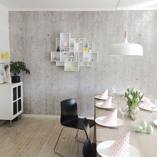 The ultimate Nordic pendant light looking the part in this modern space. Love the cube shelves on the back wall!  Shop this guy in two colours on our website, just follow the link in our bio and search 'Nordic'