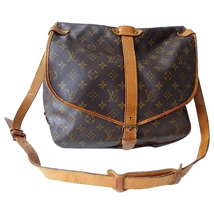 Louis Vuitton Saumur 35 GM, an authentic original Louis Vuitton bag.     Vintage and 100% authentic travel or messenger bag.     Monogram is beautiful, clean on the inside.     The leather looks worn out, see photos.     The bag can also be worn cross body. The bag consists of two compartments.     This bag is in good condition     Size: Length: 35 cm x Height 28 cm x Depth 22 cm     Code: 892 FC  (1989)