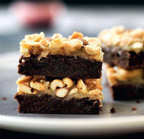 Chokoladebrownie med karamelcrunch
