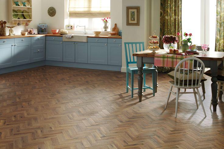 Karndean wood flooring - Morning Oak Parquet by @KarndeanFloors available from Rodgers of York #flooring #interiors