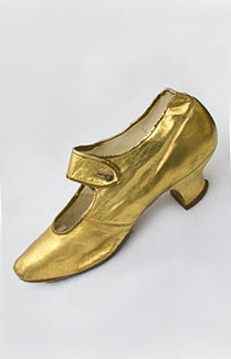 Vitorianos sapatos de ouro