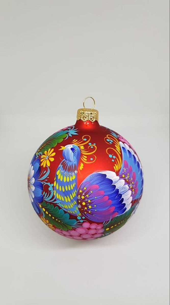 Red Peacock Xmas Ornament Hand Painted Glass Personalized Etsy In 2021 Hand Painted Ornaments Painted Christmas Ornaments Personalised Christmas Tree Decorations